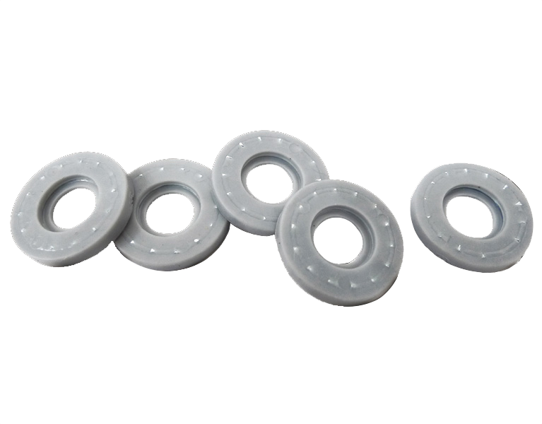 Tooth Lock Washer Rubber Wraps Serrated Steel Washer