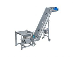 Plastic Belt Conveyor with Hopper